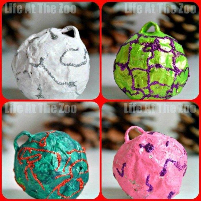 Paper Mache Craft Ideas For Kids Part - 40: Christmas Ornament Ideas - Paper Mache Baubles