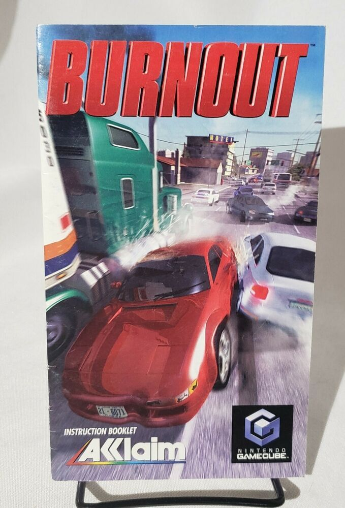 Burnout Instructions Manual Only Nintendo Gamecube Gamecube Nintendo Instruction