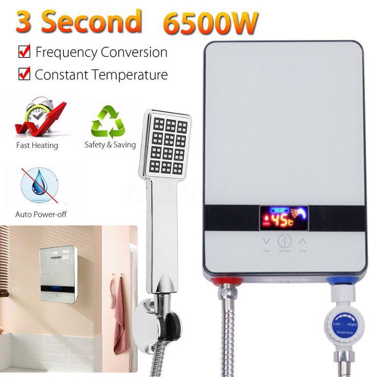6.5KW 220V Tankless Instant Electric Hot Water Heater Boiler Bathroom Shower | eBay