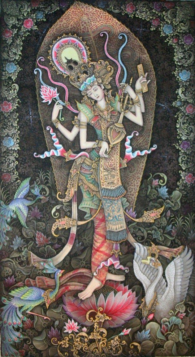 HiNDU GOD: Goddess Saraswati ~ loved and pinned by http://www.shivohamyoga.nl/ #divine #goddess