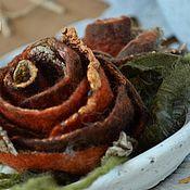 Украшения ручной работы. Ярмарка Мастеров - ручная работа Украшение в волосы «Две осенние розы». Handmade.