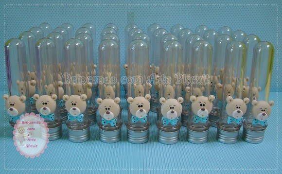 decoracao festa urso azul e marrom: Urso, Arte Biscuits, Festa Ursinho, Decorating Parties, Festa Urso