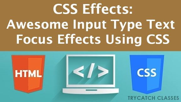 Awesome Input Type Text Focus Effects Using CSS