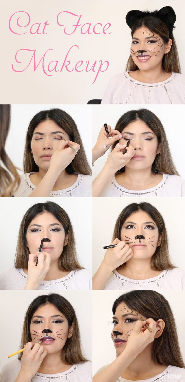 DIY cat makeup tutorial perfect for Halloween or any costume party you havve coming up. Using liquid eye liner, you can recreate this sexy and sophisticated look at home! Video and step-by-step photos here: http://www.ehow.com/how_4840555_cat-face-makeup.html?utm_source=pinterest.com&utm_medium=referral&utm_content=freestyle&utm_campaign=fanpage