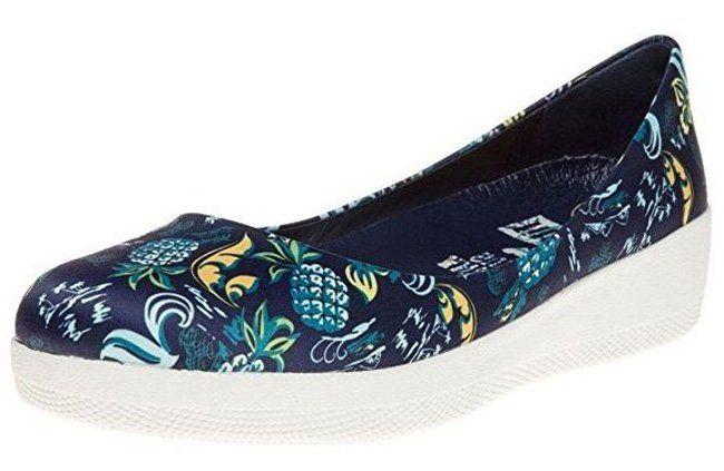 #FitFlop Fitness Schuhe - Anna Sui Latticed Ballerinas, blau.