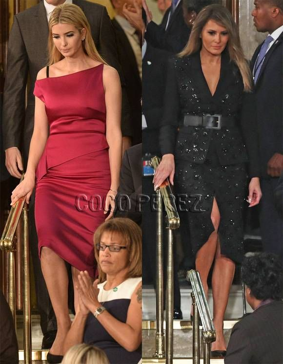 Ivanka and Melania dress up for Congress.