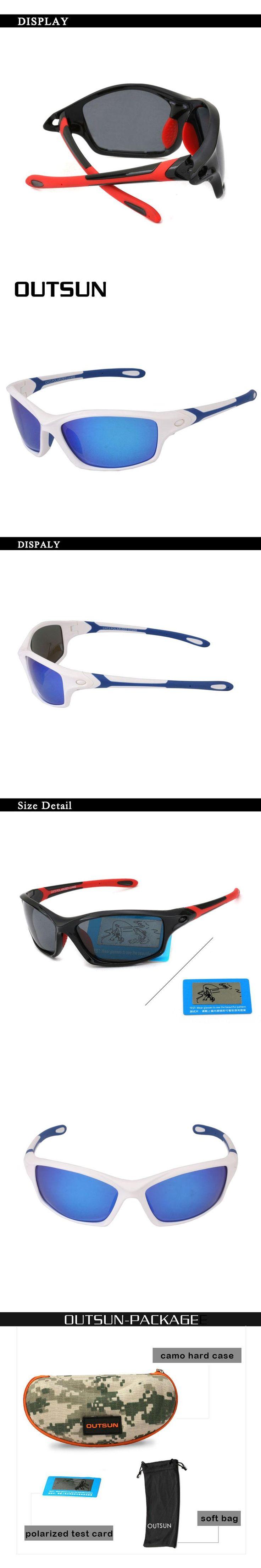 OUTSUN Men Polarized Sunglasses Men Eyewear TR90 glasses for men Sun protection Sport Sunglasses Oculos De Sol