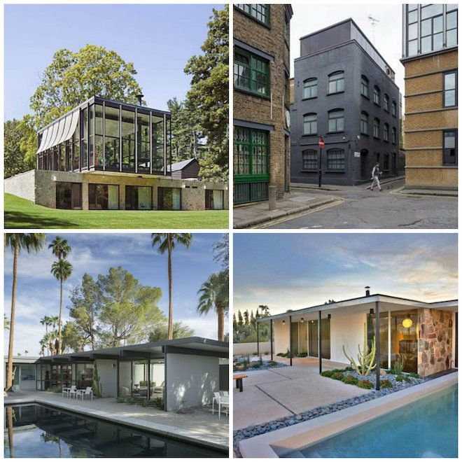 Clockwise from top left: Philip Johnson's Wiley House, David Adjaye's Fog House, Al Beadle's Beadle House #7 and Donald Wexler's Wexler House. A showcase for exemplary domestic and international architecture,...