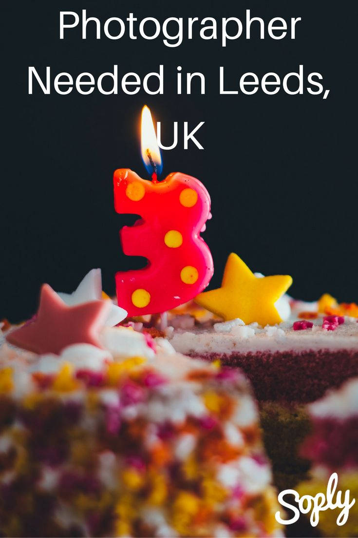 #Photographer needed for a 3rd birthday #party in Leeds, UK on September 17th. The party is from 4-6:30pm at the Rainbow Factory Farsley Leeds. Speak to the #client and apply by clicking the pin!