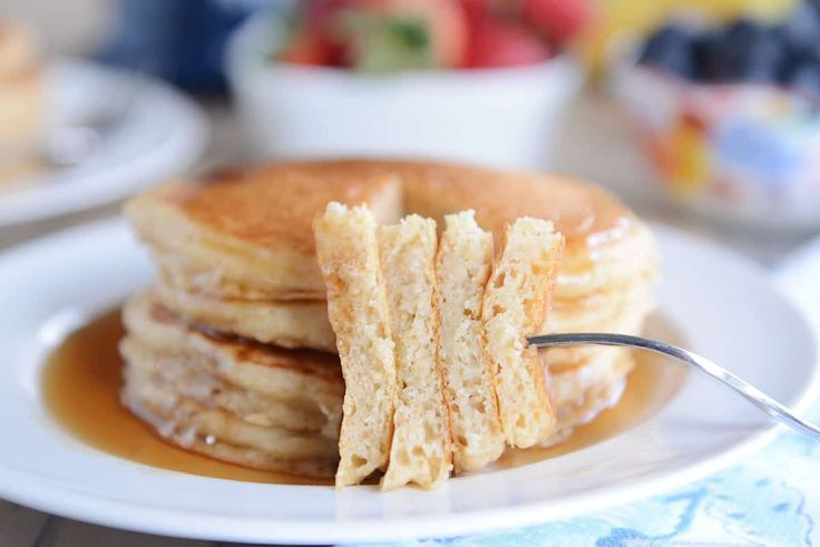 You've never met a fluffier, tastier pancake until these overnight pancakes. The batter is stirred together the night before so breakfast is easy as can be!