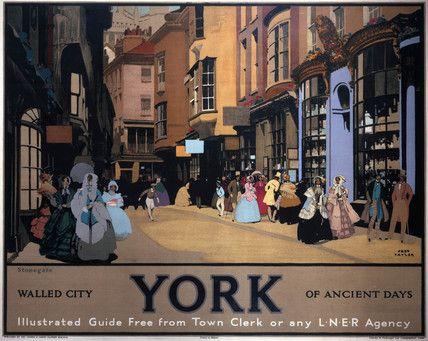 Stonegate, York - LNER railway poster