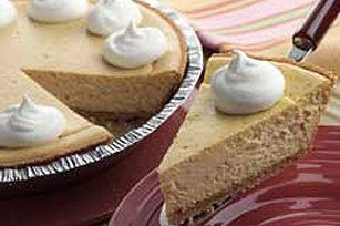 """I received so many compliments on this easy 3-step pumpkin cheesecake. Everyone thought it was amazing. I even was told, """"this is better than cheesecake factory"""". I thought twice about sharing the recipe ;) enjoy my fellow pinner friends"""