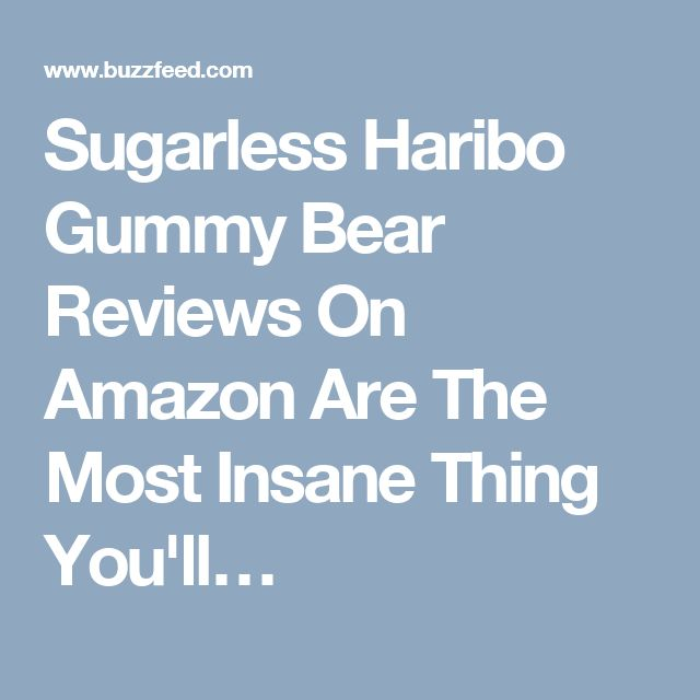 Sugarless Haribo Gummy Bear Reviews On Amazon Are The Most Insane Thing You'll…