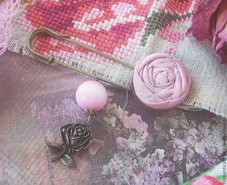 """брошь """"принцесса Александра"""" - брошь роза,розовый,розовая роза,металлическая фурнитура"""