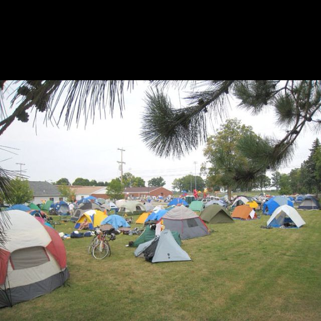 Senior prank idea- campout on the football field. Heck I'd do it just to see everyone's reaction...it'd be fun to prank on the last day of school.