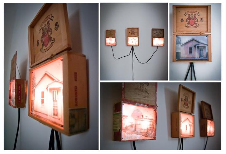 cigar box lightboxes....