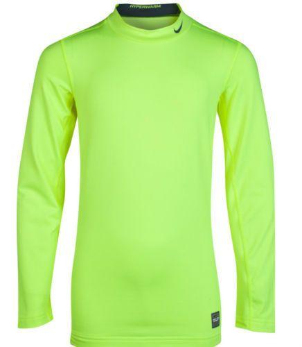 Nike Pro Combat Hyperwarm Mock Fitted Volt Base Layer Shirt Size 2XL 547811 702  #Nike #BaseLayers