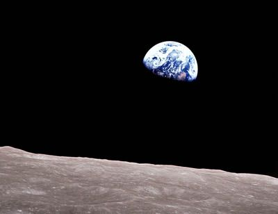 Our home. This small little blue dot, hanging in space.
