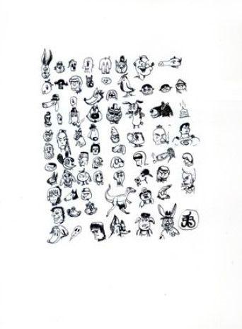 "Dibujo 6, de la serie ""Dunky Draws"".  Artista: Edgar Jiménez, Dibujo 6 de la serie ""Dunky Draws"", Tinta china sobre papel dúrex, 40 x 30 cm (15.6 x 21.5 inch), 2013,  + PA  Artist: Edgar Jimenez, Drawing 6 "" Dunky Draws "" Indian Ink Durex series on paper, 40 x 30 cm ( 15.6 x 21.5 inch) , 2013 , + PA  #art #arte #contemporaryartwork #pintura #paint #bac #dibujo #drawing"