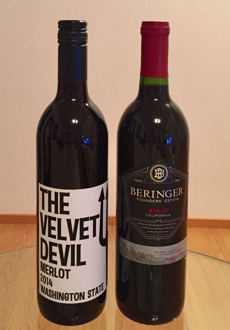 Weekend wines Merlot Velvet Devil and Beringer