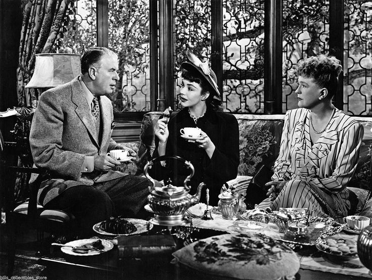 "C. Aubrey Smith, Jennifer Jones and Margaret Bannerman in ""Cluny Brown"" (1946)"