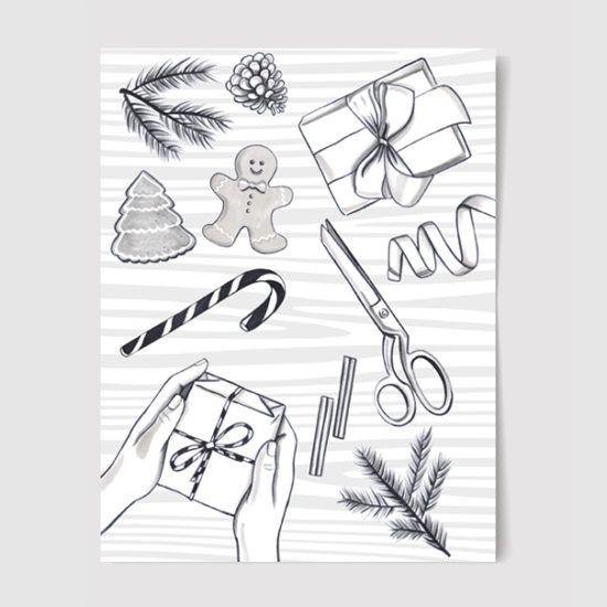 #christmas #christmascrafts #illustration #drawing