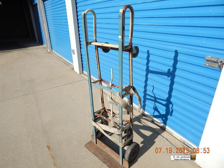 VINTAGE APPLIANCE DOLLY! STEAMPUNK! WELL USED! QUITE HEAVY! FOR REFURB! AS IS! #UNKNOWN