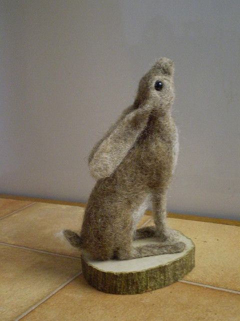 * HARE ~ my needlefelt fffriends by sue.halden, via Flickr - love this ♥