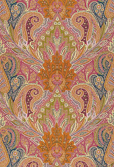 Schumacher Cambay Paisley Print Sandalwood Fabric