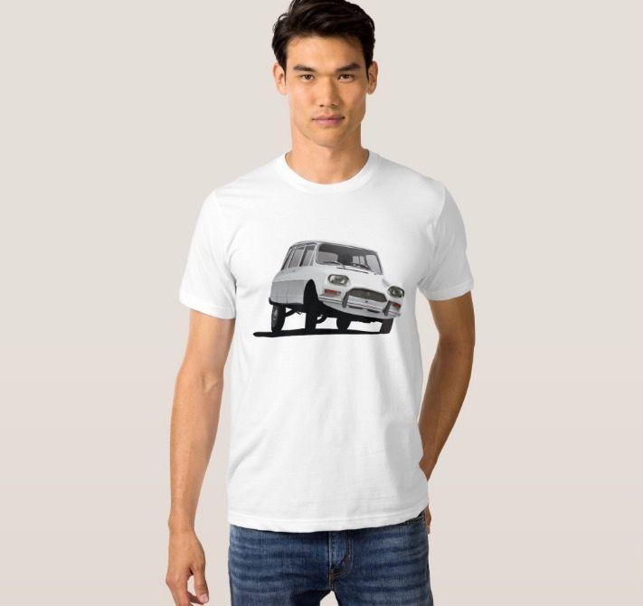 CItroën Ami 8 T-shirt in Zazzle.  http://automobile-t-shirts.blogspot.fi/2016/05/citroen-ami-8-break-t-shirts-and-gifts.html  #citroen #citroenami #ami8 #illustration #carillustration #automobile #classiccar #citroën #citroënami #tshirt