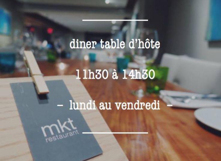 Table d 'hôte 22$ pour votre #lunch du Lundi au Vendredi, à partir de 11h30 jusqu'à 14h30 #restomkt #restomtl #montreal #mtl  #tabledhote #downtownmontreal