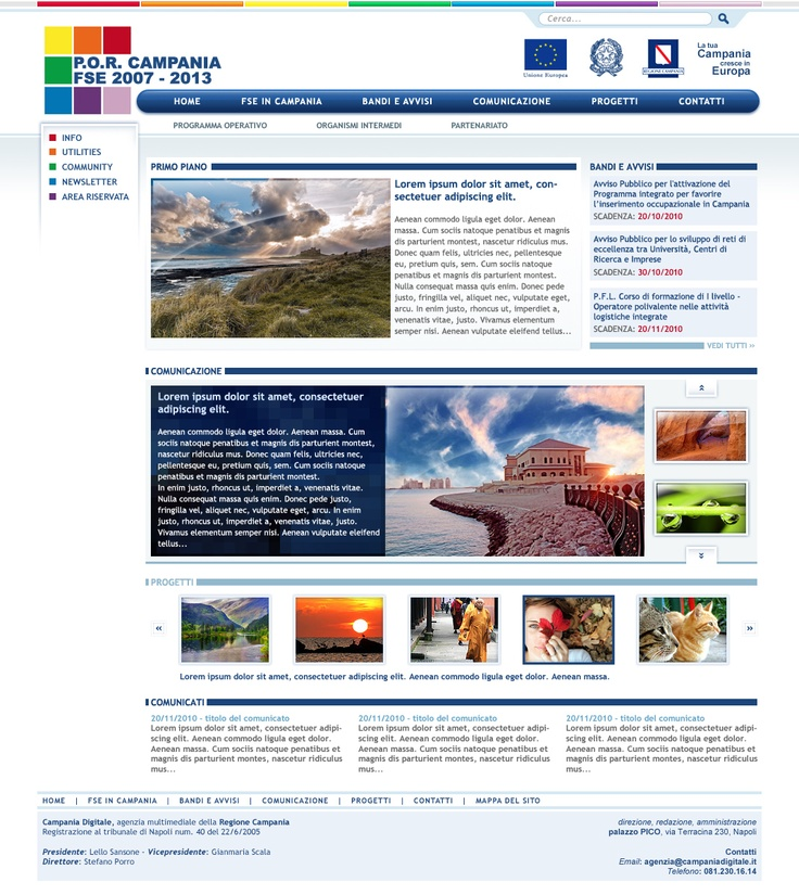 Portale POR FSE 2007-2013: Web designer