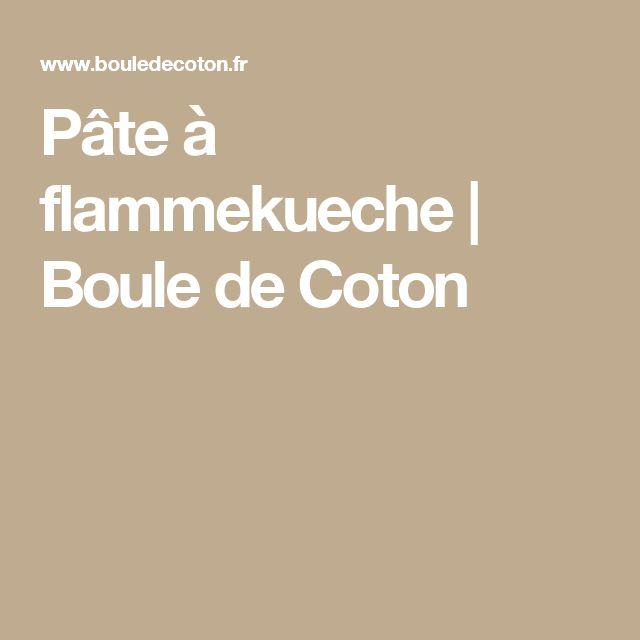 Pâte à flammekueche | Boule de Coton