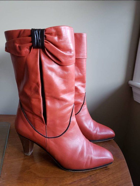 53ce1b5bd4c3c Vintage Roland Pierre - Leather Boots - 1980s Boots in 2019 | 80s ...