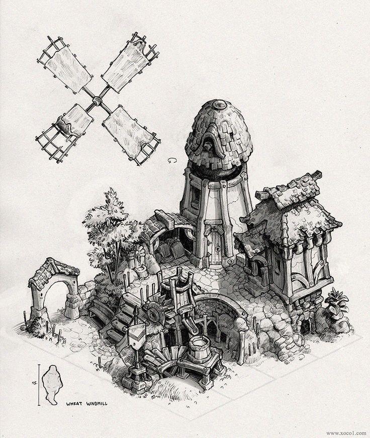 Wheat Windmill, Max Schulz on ArtStation at http://www.artstation.com/artwork/wheat-windmill
