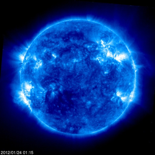 Latest images of solar flares courtesy of NASA