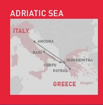 Superfast Ferries between Italy and Greece -- free to Eurail holders. also check out anek-superfast.com (20 Euro covercharge during July because of high season)