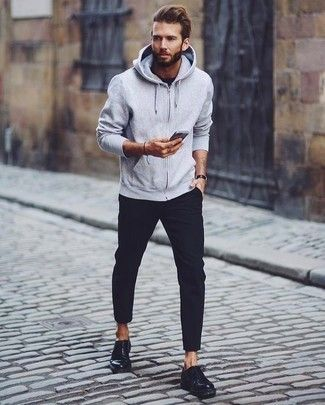 Grey Hoodie | Men's Fashion