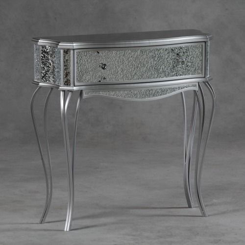 Mosaic Glass Silver Venetian Console Table   MPF5