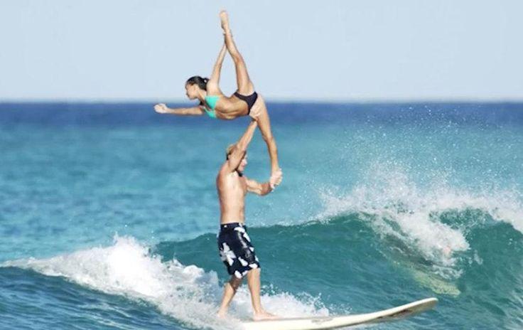 The Unbelievable Tandem Surfing + Gymnastics Video - SELF