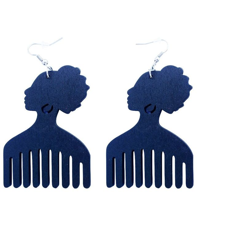 Afro pick earrings | Afro pic earrings. Shop online now at http://www.EthnicEarring.com