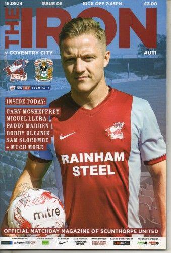 16 September 2014 v Scunthorpe United Lost 1-2