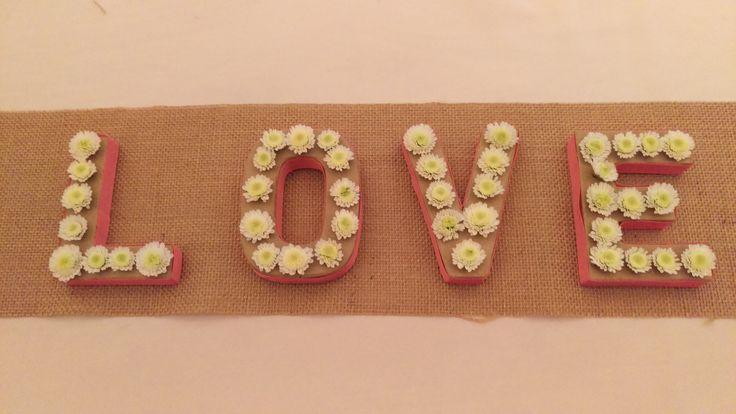 LOVE in flowers
