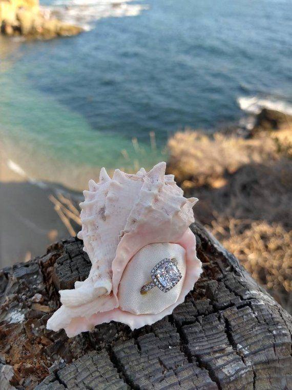 proposal box seashell ring box beach proposal hidden ring box Engagement ring box incognito ring box