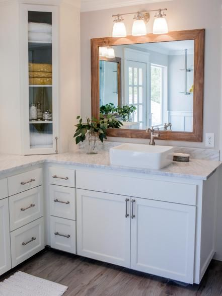 Fixer Upper  A Contemporary Update for a Family Sized House. Best 25  Bathroom corner cabinet ideas on Pinterest   Small corner