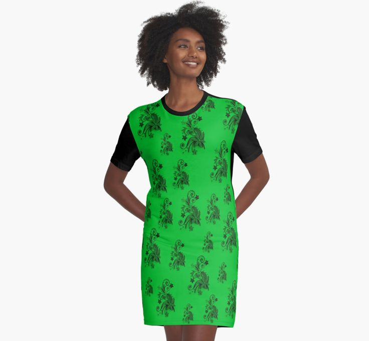 Green on green, flowers, ornament, asymetric floral design by cool-shirts Also Available as T-Shirts & Hoodies, Men's Apparels, Women's Apparels, Stickers, iPhone Cases, Samsung Galaxy Cases, Posters, Home Decors, Tote Bags, Pouches, Prints, Cards, Mini Skirts, Scarves, iPad Cases, Laptop Skins, Drawstring Bags, Laptop Sleeves, and Stationeries #dress #green #flowers #floral #design