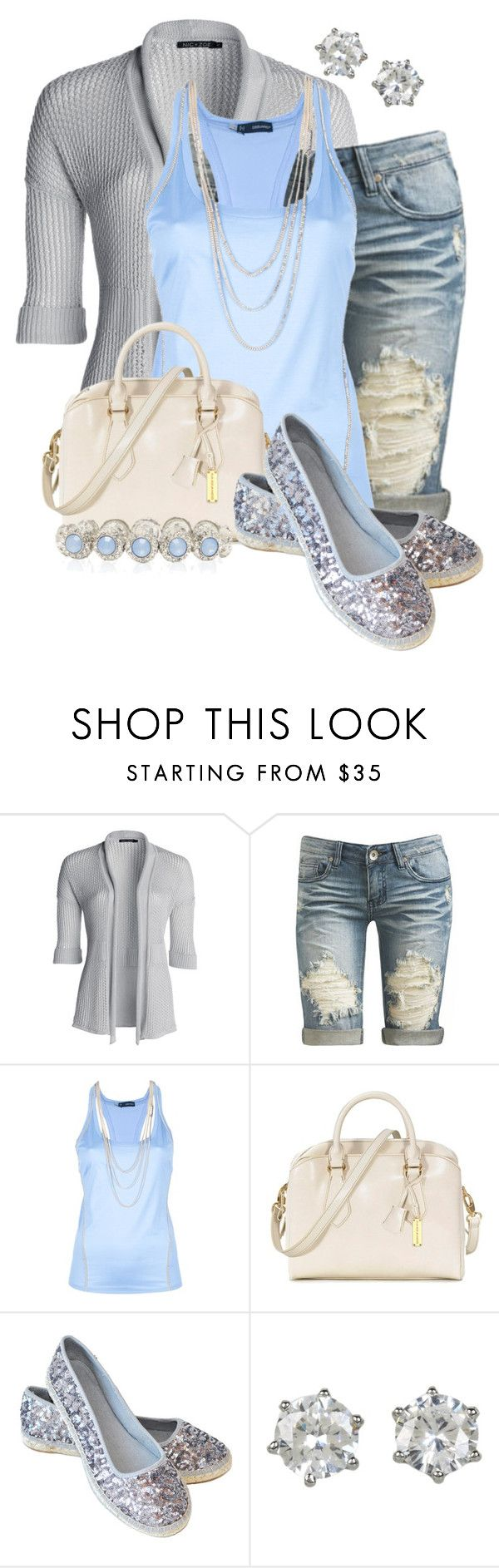 """Nomad Glitzy Silver Espadrille"" by colierollers ❤ liked on Polyvore featuring NIC+ZOE, Arden B., Dsquared2, RABEANCO, Nomad, Juicy Couture and Forever New"