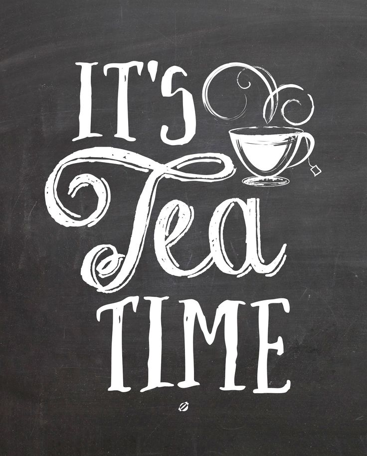 A cute free printable sign for a tea nook