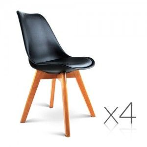 4 x Replica Eames Eiffel DSW Dining Chairs for Home Cafe Kitchen in Beech  Black18 best Replica Eames Chairs images on Pinterest   Eames chairs  . Set Of 4 Replica Eames Eiffel Dsw Dining Chair White. Home Design Ideas