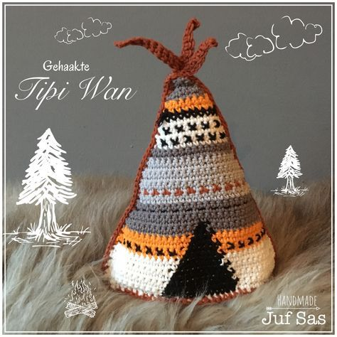 Gehaakte Tipi Wan handmade byjuf Sas met gratis patroon #Tipi #teepee #haken #crochet #crocheting #haakwerk #DIY #handmade #creatief #tipiwan #gehaaktetipi #katoen #Actionnederland #uitleg #gratispatroon #freepattern #virka #kussen #tipikussen #kinderkamer #styling #boxspeeltje #box #child #blog #jufsas